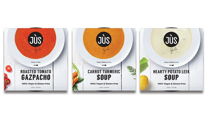 Jus by Julie: 6-Pack, 12-Pack, or 18-Pack of Vegan, Gluten-Free Soups from Jus by Julie (Up to 39% Off)