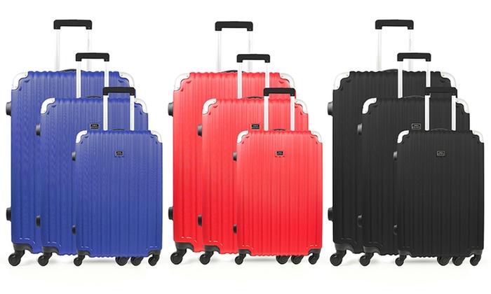 Set de 3 valises Studio Apostrophe, 3 coloris au choix, à 99,90€ (85% de réduction)