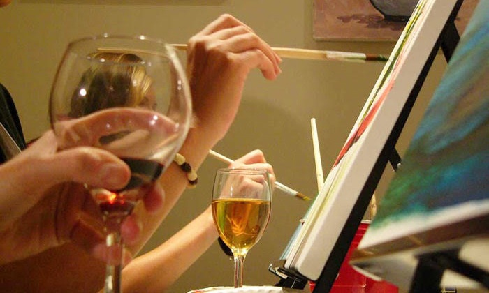 Paint and Pour - Paint and Pour Dearborn: $19.99 for Two-Hour BYOB Painting Class for One at Paint and Pour Dearborn Studio  ($35 Value)