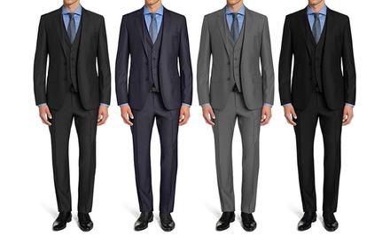 Braveman Men's Slim-Fit Suits with Free Tie (3-Piece)