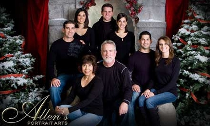 Allen's Portrait Arts - Campbell: $69 for a Holiday Photo Session at Allen's Portrait Arts in Campbell