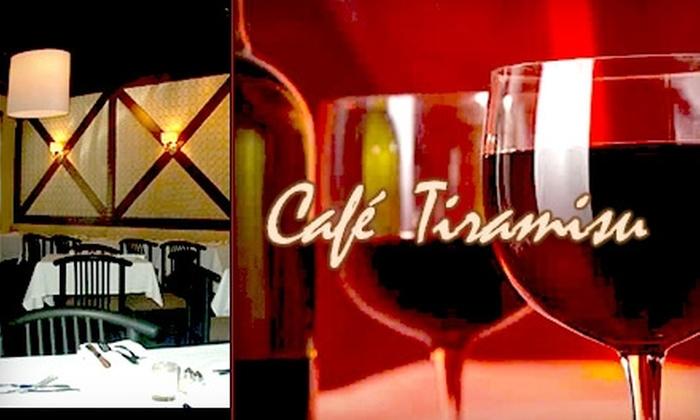 Café Tiramisu - North Raleigh: $22 for $50 Worth of Fine Italian Cuisine & Wine at Café Tiramisu