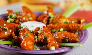 Bottoms Up Bar & Grill: Bar and Grill Food at Bottoms Up Bar & Grill (Up to 42% Off). Two Options Available.