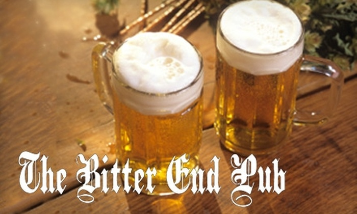 The Bitter End Pub - Northwest District: $10 for $20 Worth of Pub Fare and Drinks at The Bitter End Pub