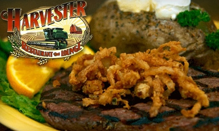 The Harvester Restaurant and Lounge - Spangle: $10 for $20 Worth of Burgers, Steaks, Seafood, and More at The Harvester Restaurant and Lounge