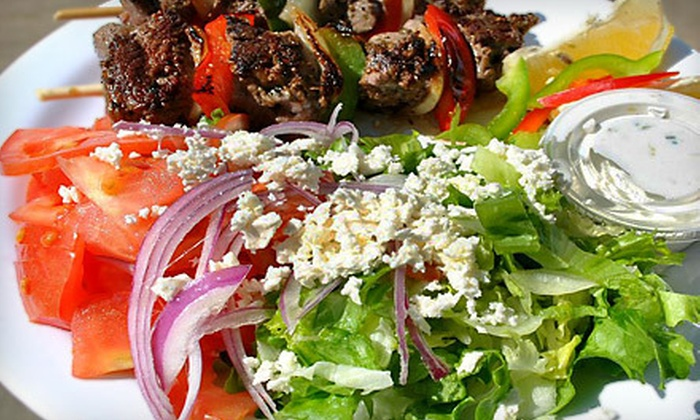 G3 Great Greek Grill - Upper Kirby: Build-Your-Own Greek Meal for Two or Four at G3 Great Greek Grill (Up to 53% Off)