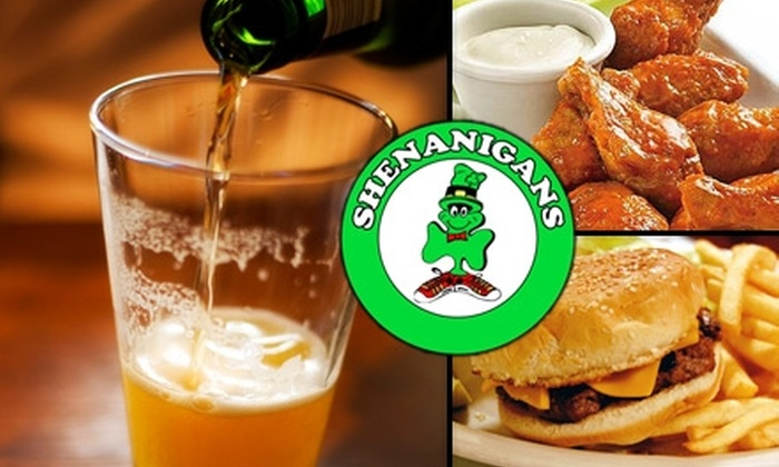 Shenanigans Pub - Multiple Locations: $15 for $30 Worth of Food and Drinks at Shenanigans Pub