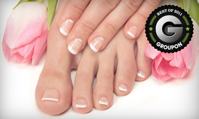 Heads of Time Salon - Appleton: $30 for a Rough to Ready Manicure and Down and Dirty Pedicure at Heads of Time Salon ($65 Value)