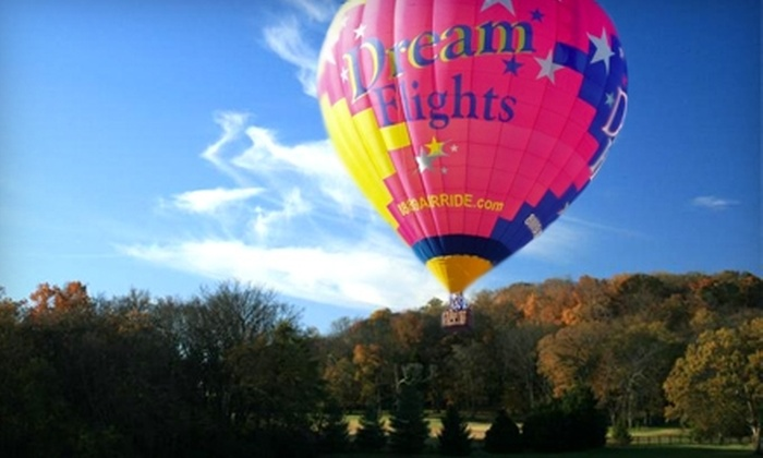 Dream Flights USA - Near North Side: $140 for a Weekday Hot Air Balloon Ride ($280 Value) or $170 for a Weekend Ride ($340 Value) from Dream Flights USA