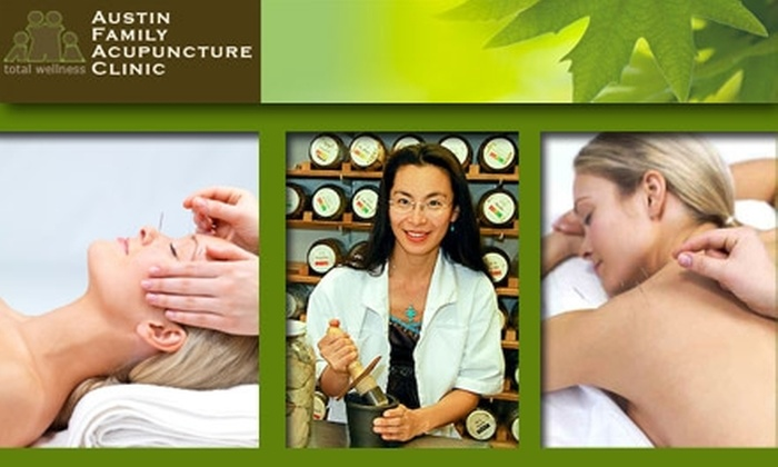 Austin Family Acupuncture - Multiple Locations: $40 for an Acupuncture Treatment or Jade Frequency Facelift from Austin Family Acupuncture Clinic (Up to $120 Value)