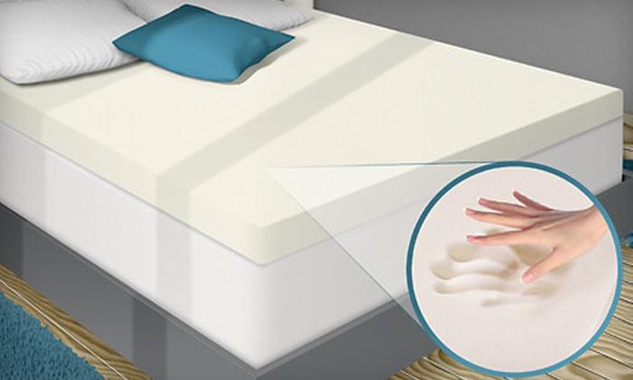 Memory-Foam Mattress Topper: PuraSleep 3-Inch Memory-Foam Mattress Topper (Up to 59% Off). Six Sizes Available. Free Shipping.