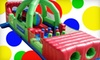 Zonkers Family Entertainment Center - The Great Mall: $15 for Two Bounce-House Admissions, 10 Game Tokens, One Pizza, and Four Drinks at Zonkers in Olathe