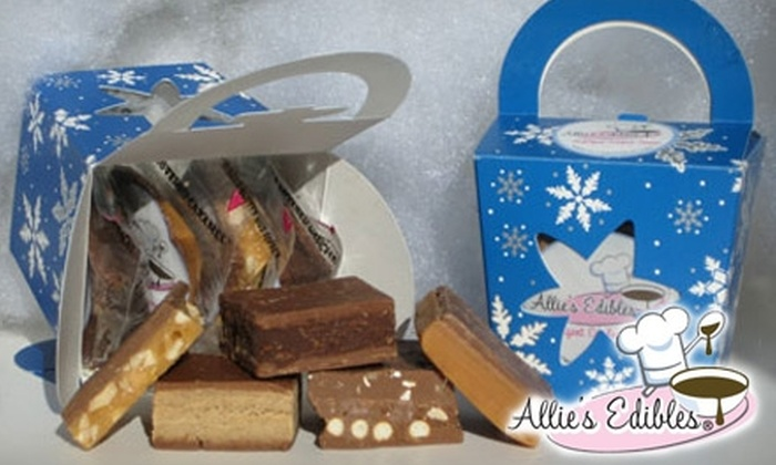Allie's Edibles - Carlsbad: $10 for Two Specially Packaged Holiday Chocolate Boxes from Allie's Edibles ($20 value)