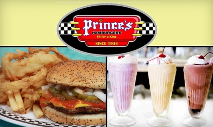 Prince's Hamburgers - Multiple Locations: $7 for $14 Worth of Burgers, Shakes, and More at Prince's Hamburgers