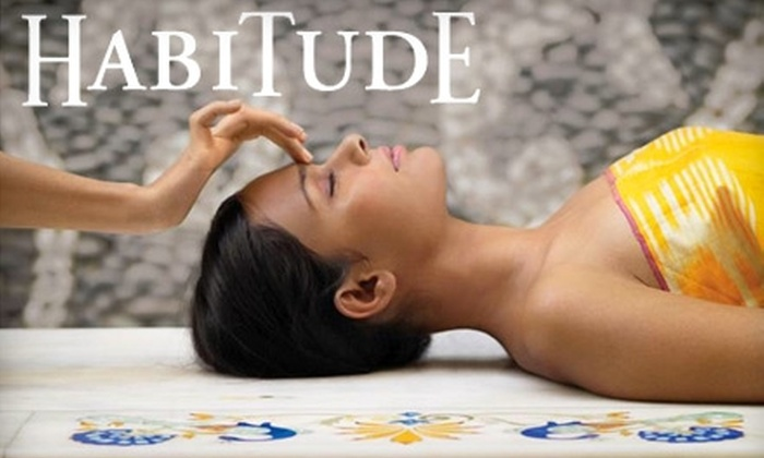 Habitude Day Spa and Salon - Adams: $143 For Massage, Facial, Mani-Pedi, & Hot Rocks Sauna at Habitude Day Spa and Salon