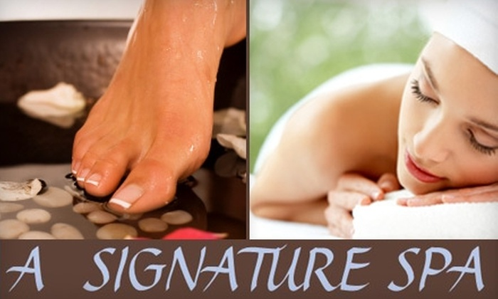 A Signature Spa - Crossroads: $99 for a Stress Melt Away Package at A Signature Spa