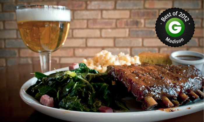 Brickhouse BBQ - Downtown Madison: $10 for $20 Worth of Barbecue, Valid March 3–April 4 or April 7–May 9 at Brickhouse BBQ