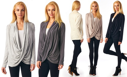 Women's Crisscross Draped Cardigan. Multiple Colors Available. Free Returns.