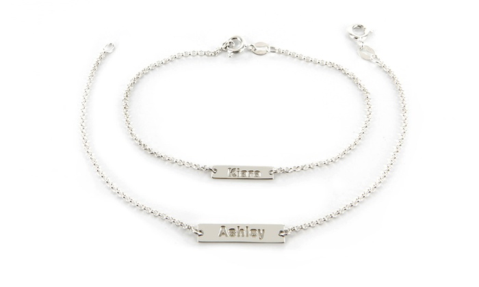 Monogram Online: Personalized Necklace, Bracelet, or Both from Monogram Online (Up to 93% Off)