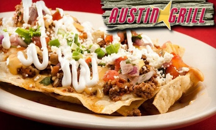 Thompson Hospitality, LLC - Multiple Locations: $15 for $30 Worth of Tex-Mex Cuisine at Austin Grill. Choose One of Six Locations.