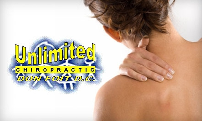 Foit Family Chiropractic - Orchard Park: $49 for a Complete First Visit and Either a Month of Unlimited Chiropractic or One 30-Minute Massage from Foit Family Chiropractic (Up to $237 Value)