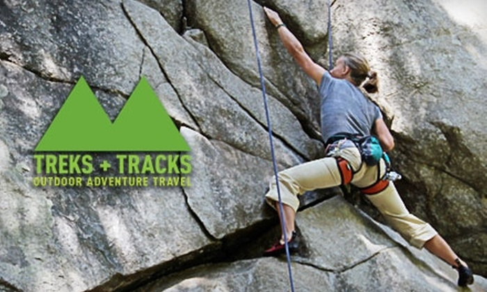 Treks and Tracks - Multiple Locations: $49 for a Four-Hour Beginning Rock-Climbing Trip with Treks and Tracks ($89 Value)