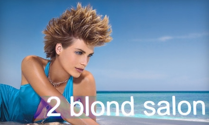 2 Blond Salon - Flagler Heights: $65 for a Haircut, Color, and Blow-Dry Combo or a Haircut, Partial Highlight, and Blow-Dry Combo at 2 Blond Salon in Fort Lauderdale (Up to $140 Value)
