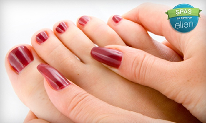 Allen Michael's Hair Salon - Clarksville: $30 for a Shellac Manicure and a Paraffin Pedicure at Allen Michael's Hair Salon in Clarksville ($60 Value)