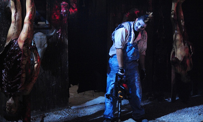 Blood Village - Green Valley Ranch: Haunted 3-D Manor and Haunted Mansion Adventure for Two at Blood Village in Henderson (Half Off). Two Options Available.