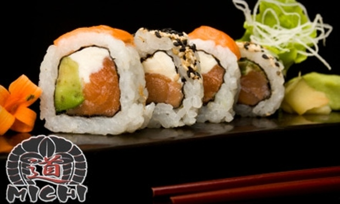MICHI Japanese Restaurant & Sushi Bar - Downtown: $12 for $30 Worth of Sushi and Japanese Cuisine at MICHI Japanese Restaurant & Sushi Bar