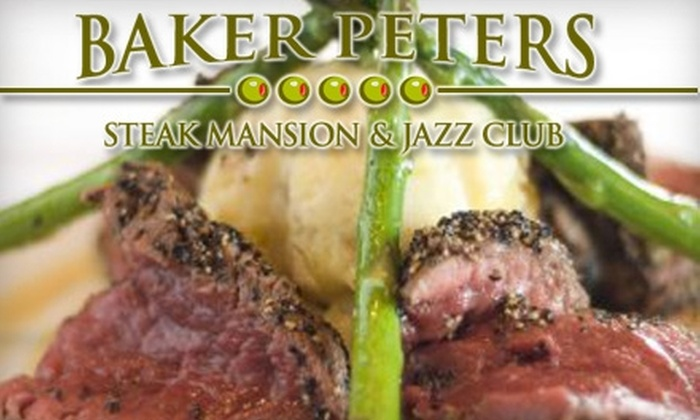 Baker Peters Steak Mansion and Jazz Club - Knoxville: $20 for $50 Worth of Upscale Fare at Baker Peters Steak Mansion and Jazz Club