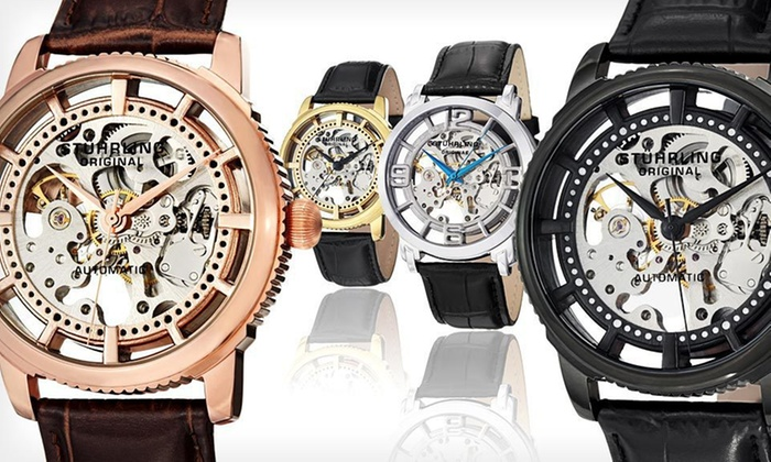 Stuhrling Original Skeleton Watches: Up to 91% Off Stuhrling Skeleton Watches