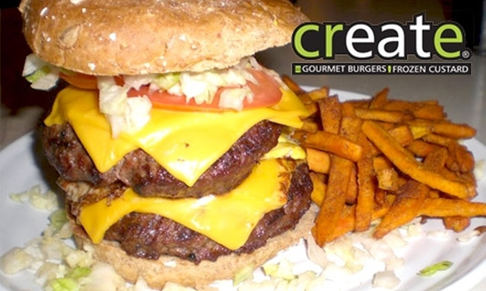 Create - Summerlin: $8 for $16 Worth of Customizable Gourmet Burgers, Custard, and More at Create