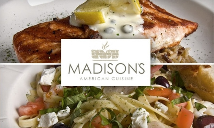 Madison's - Capitol: $15 for $30 Worth of Casual Contemporary Food and Inventive Cocktails at Madison's