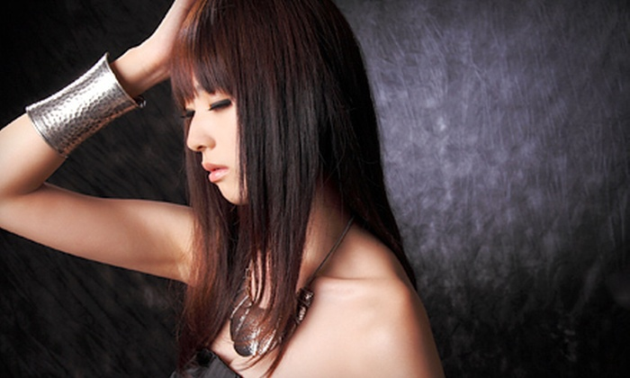 Salon DG - Fresno High-Roeding: Haircut Package with Deep Conditioning, Style, and Optional Color or Partial Highlights at Salon DG (Up to 63% Off)