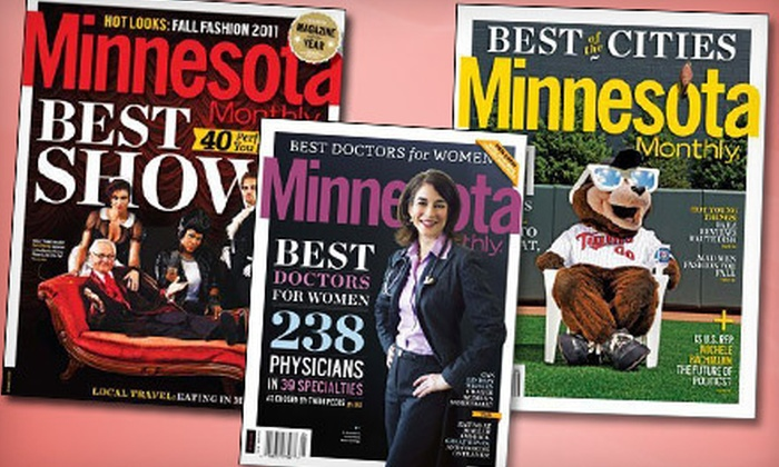 """Minnesota Monthly - Minneapolis / St Paul: $13 for a Two-Year Subscription to """"Minnesota Monthly"""" ($26.95 Value)"""
