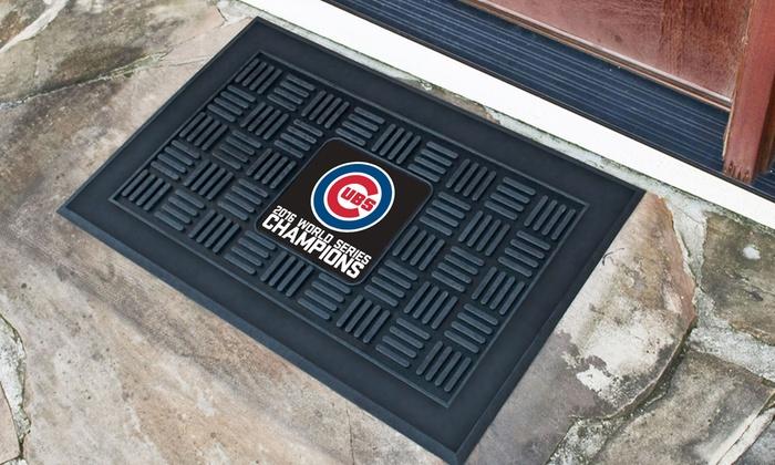 Chicago Cubs World Series Champions Vinyl Door Mat