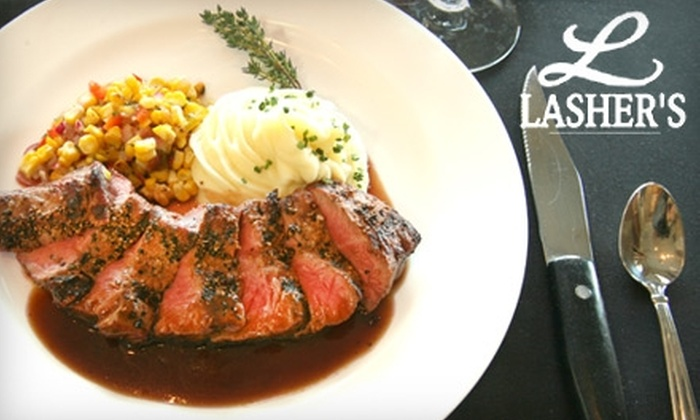 Lasher's - Belmont Heights: $30 for $60 Worth of Steaks, Seafood, and More at Lasher's in Long Beach