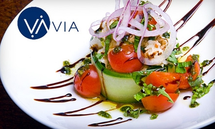 Via - Buckhead Village: $15 for $35 Worth of Modern Italian Dishes and Drinks at Via