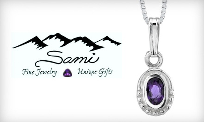 Sami Fine Jewelry - Fountain Hills: $29 for Sterling-Silver Pendant with Arizona Amethyst at Sami Fine Jewelry ($59.95 Value) in Fountain Hills