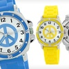 Up to 78% Off a Women's Peace-Sign Watch