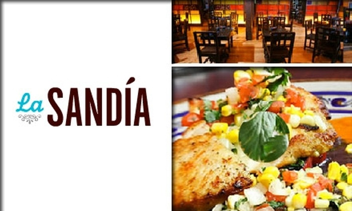 La Sandia Mexican Kitchen and Tequila Bar - Tysons Corner: $25 for $50 Worth of Modern Mexican Fare and Drinks at La Sandia Mexican Kitchen & Bar