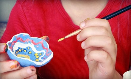 $20 Groupon Towards Pottery Painting for One - Color Me Mine in Modesto