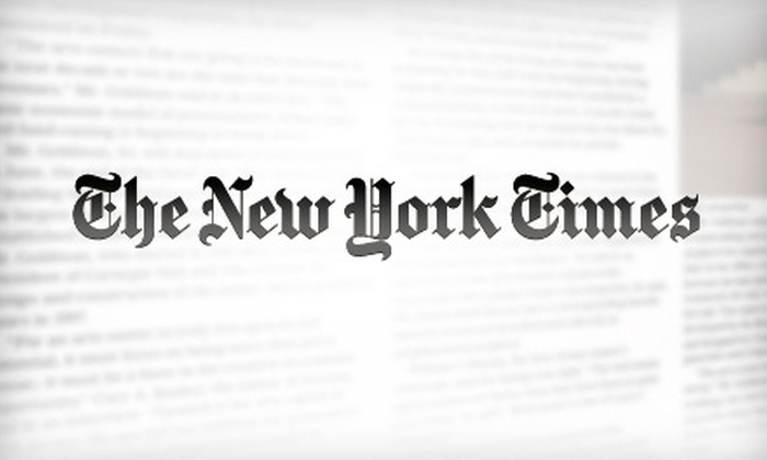 """New York Times"": $36 for a Twelve-Week Subscription to the Sunday Edition of The ""New York Times"""