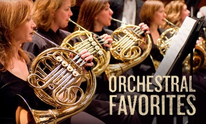 """Greenville Symphony Orchestra - Downtown: One Ticket to the Greenville Symphony Orchestra's """"Orchestral Favorites"""" Concert at Peace Concert Hall. Choose Between Two Seating Options."""