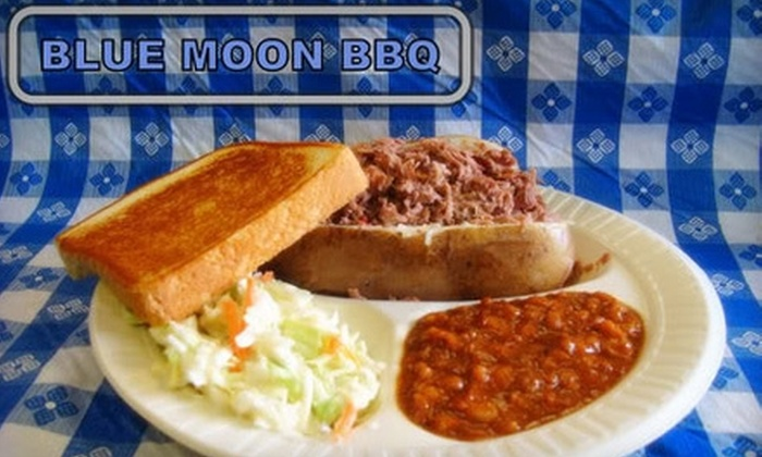 Blue Moon BBQ & Grill - Bossier City: $7 for $15 Worth of Barbecue Fare and Drinks at Blue Moon BBQ & Grill