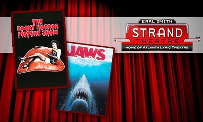 """Earl Smith Strand Theatre - Downtown Marietta: $4 Ticket to Either """"The Rocky Horror Picture Show"""" or """"Jaws 3-D"""" at the Earl Smith Strand Theatre on May 22 (Up to $10 Value)"""