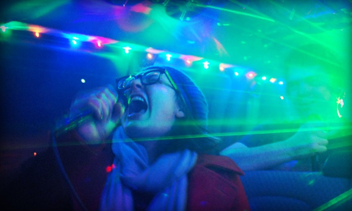 PARTY ON 4 WHEELS - Dallas: $69 for a Two-Hour Karaoke Cab Ride for Seven from PARTY ON 4 WHEELS ($150 Value)