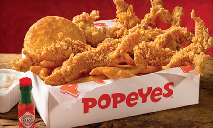 Popeyes - Multiple Locations: $5 for $10 Worth of Fried Chicken and Louisiana Fare at Popeyes