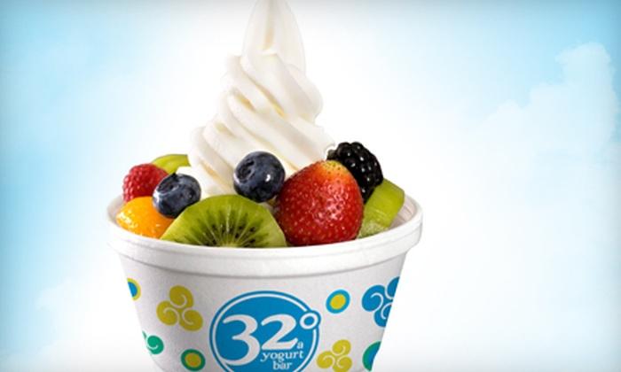 32 Degrees A Yogurt Bar - Mountain Brook: $6 for $12 Worth of Self-Serve Frozen Yogurt at 32 Degrees A Yogurt Bar